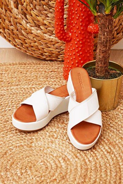 Shoes Time Kadın Beyaz Terlik 20y 820