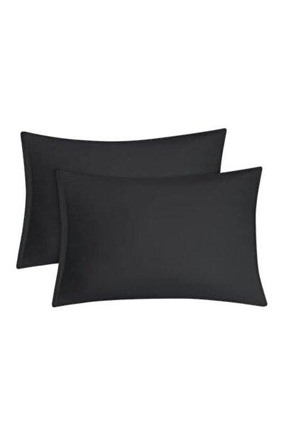 CREA HOME Yastık Kılıfı Pamuklu Siyah