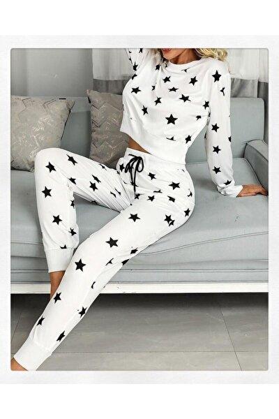 the DIFFerent Kadın Beyaz Yıldızlı Pijama Set