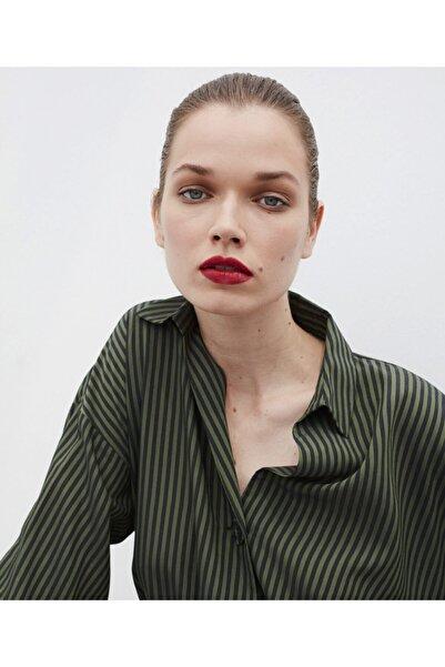 İpekyol Kadın Yeşil Oversize Gömlek