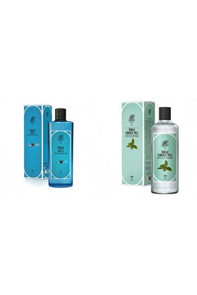 Rebul Aqua + Yeşil Çay 270 Ml Cam Şişe Set