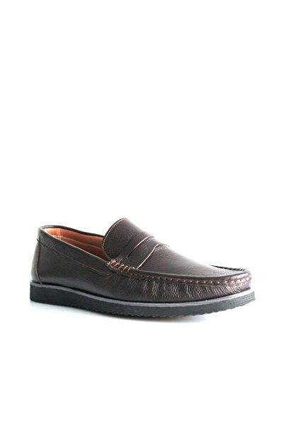Beta Erkek Kahverengi Hakiki Deri Ayakkabı