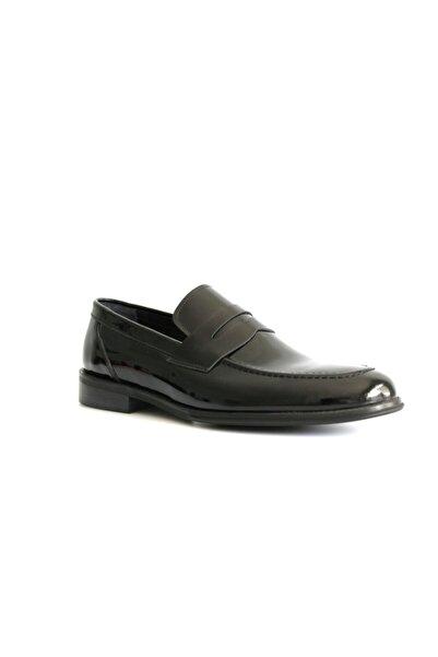 Beta Erkek Siyah Rugan Re Deri Ayakkabı