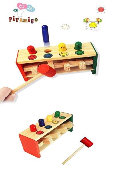 PİRAMİGO Bebek Ahşap Çak Çak Havaya Uçsun Perküsyon Oyunu