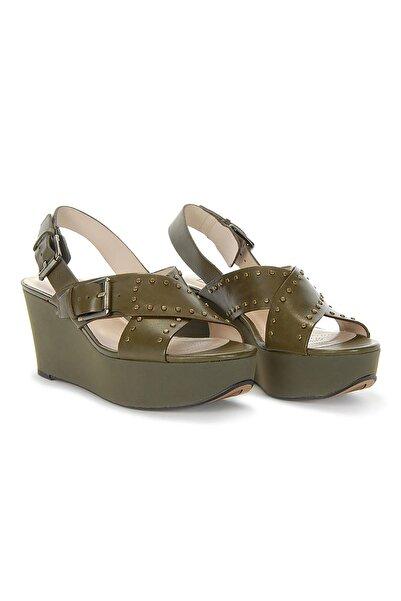 CLARKS Kadın Yeşil Topuklu Sandalet