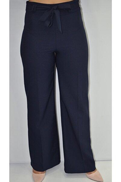 zeynep Kadın Lacivert Bol Paça Kumaş Pantolon