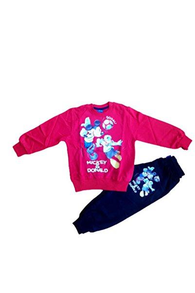 Mickey Mouse Kız Çocuk Kırmızı  Eşofman Takımı
