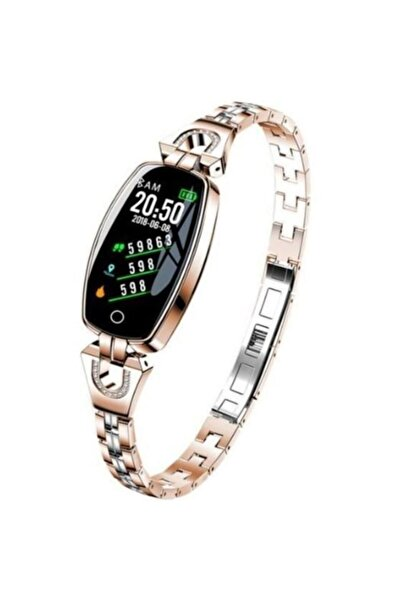 koctech H8 Akıllı Saat Kadın 2020 Su Geçirmez Kalp Hızı Izleme Bluetooth Android Ios Için Spor Bileklik