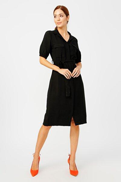 Fabrika Kadın Siyah Elbise 504393140 Boyner