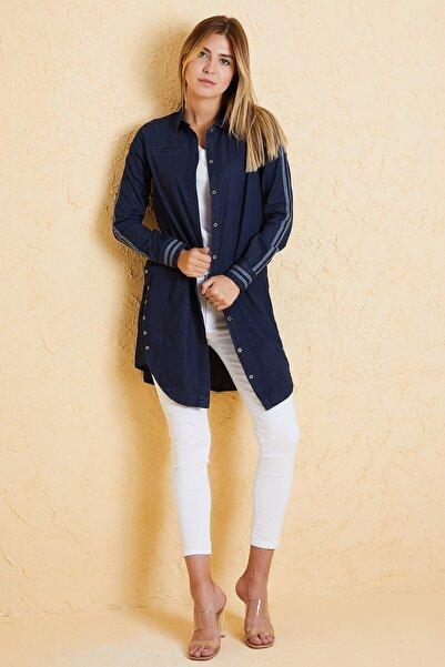 Twister Jeans Kadın Tunik Gömlek 8010-08 Lacivert