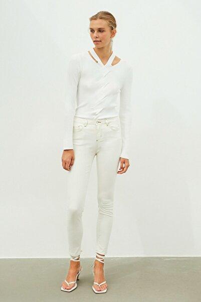 İpekyol Beyaz Jean Pantolon