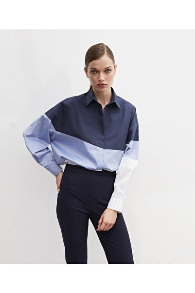 İpekyol Kadın Mavi Klasik Kesim Pantolon