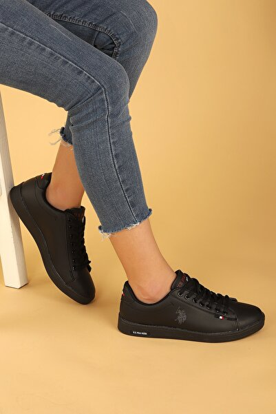 U.S. Polo Assn. Kadın Siyah Günlük Spor Ayakkabı