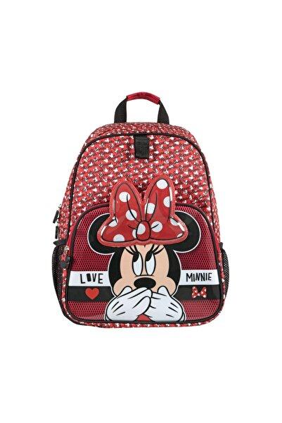 Mickey Mouse Mınnıe Ilkokul Çantası Tw Kırmızı Kız Çocuk Okul Çantası