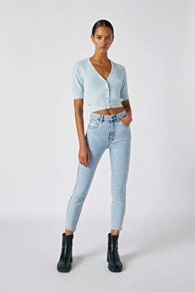 Kadın Açık Mavi Comfort Slim Fit Mom Jean 05682305