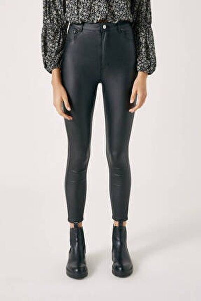 Kadın Siyah High Waist Basic Jeans 09678311