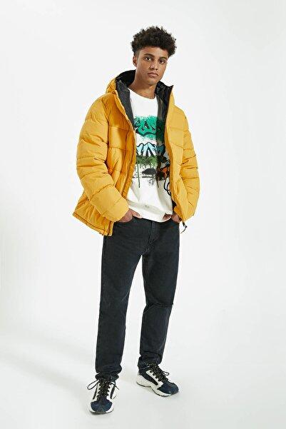 Pull & Bear Erkek Hardal Rengi Hafif Şişme Mont 09710527