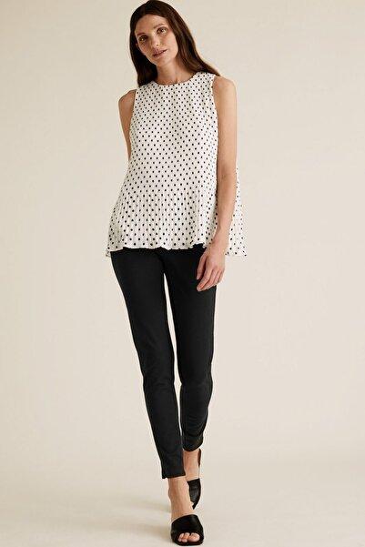 Marks & Spencer Kadın Siyah Skinny Ankle Grazer Pantolon T59007089
