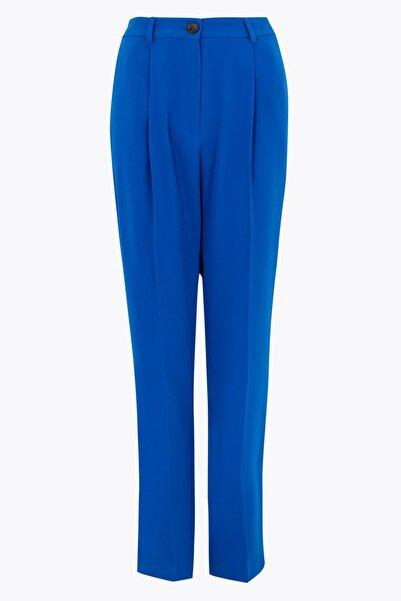 Marks & Spencer Kadın Mavi Tapered Fit 7/8 Pantolon T59005926