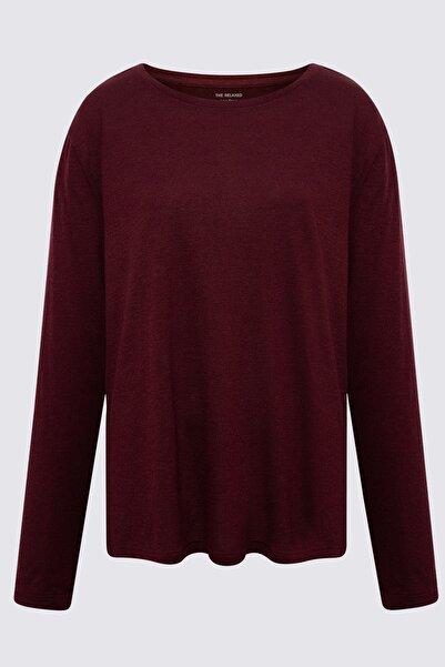 Marks & Spencer Kadın Mor Relaxed Uzun Kollu T-Shirt T41004770H