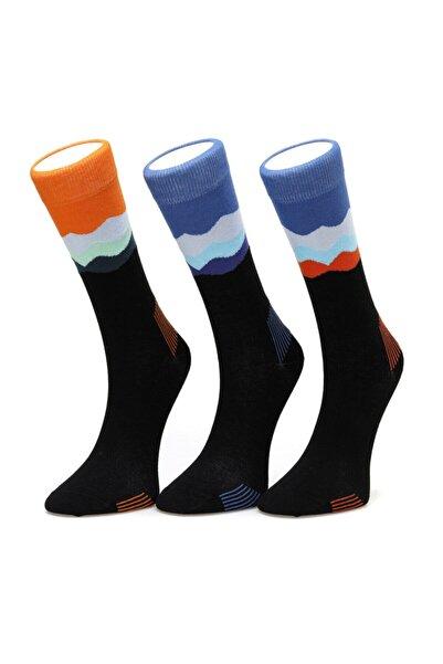 lumberjack Unisex Mavi Wavy Çorap