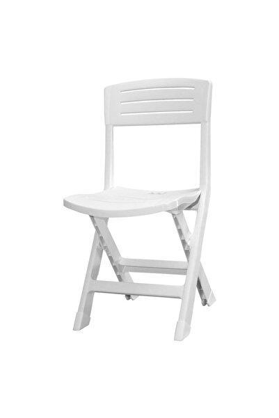 Mete Plast Beyaz IOnore Katlanır Sandalye k Gf163