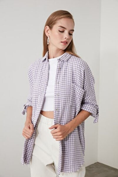 Lila Kazayağı Ceket Gömlek TWOAW20GO0159