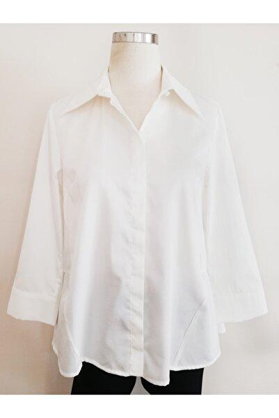 Vekem Kadın Beyaz Pamuk Gömlek