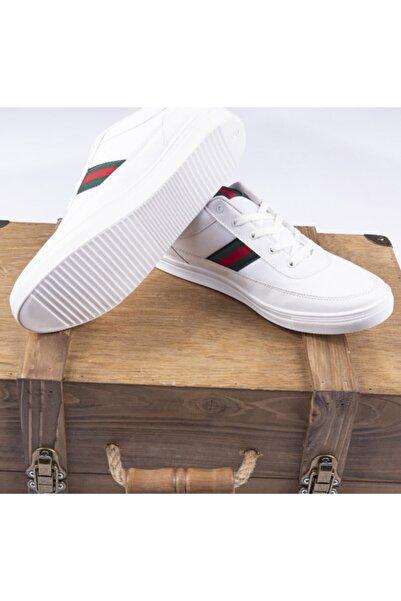 Erkek Beyaz Yürüyüş Spor Ayakkabı