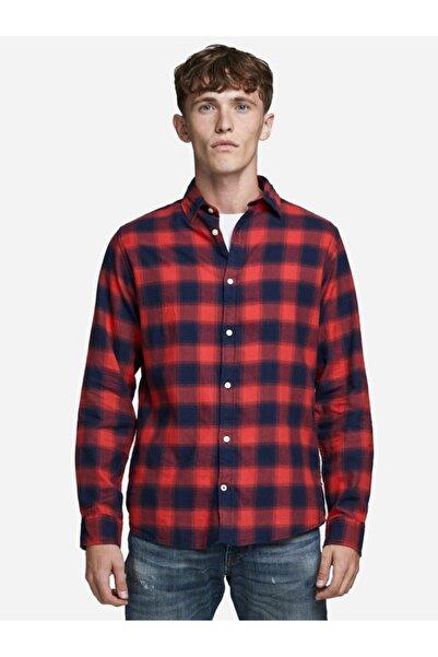 Jack & Jones Erkek Kırmızı Gömlek 12173030