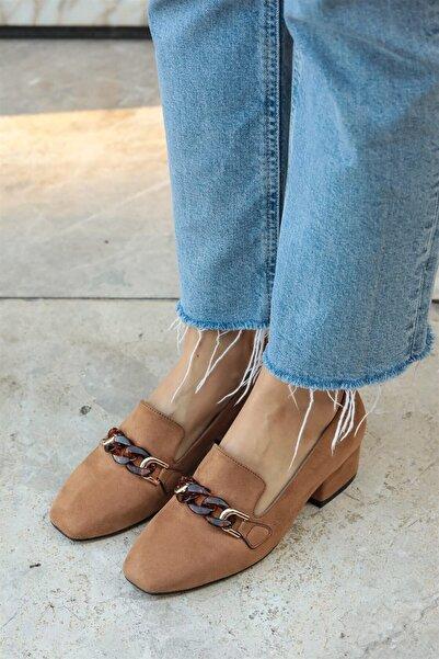 Mio Gusto Magnolia Taba Topuklu Ayakkabı