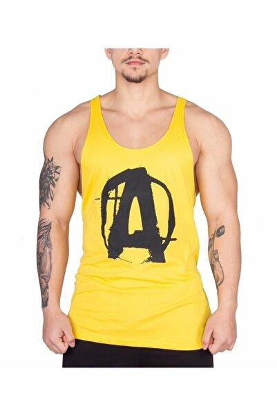 Universal Erkek Sarı Logo Fitness Atleti
