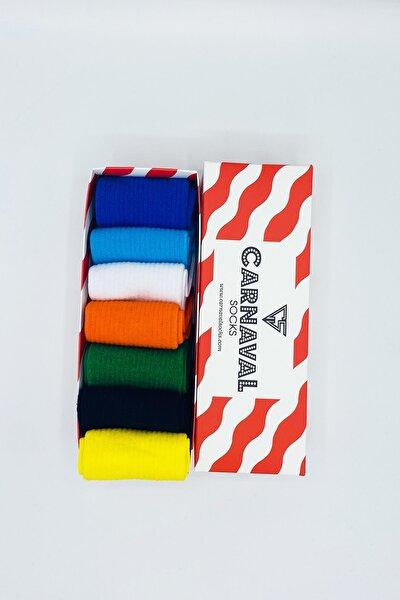 CARNAVAL SOCKS Düz Renkli Sade Desensiz Tasarım Çorap Seti