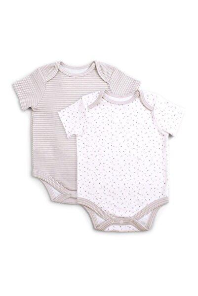 Funna Baby Bebek Bej  Basic  2 li Body Set