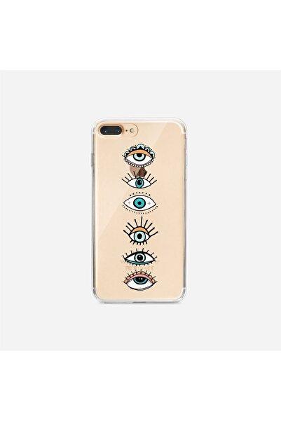 mooodcase Renkli Gözler Iphone 7plus Şeffaf Telefon Kılıfı