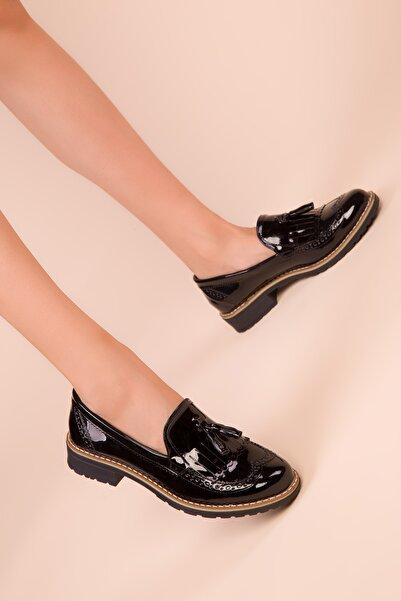 SOHO Siyah Rugan Kadın Casual Ayakkabı 15473