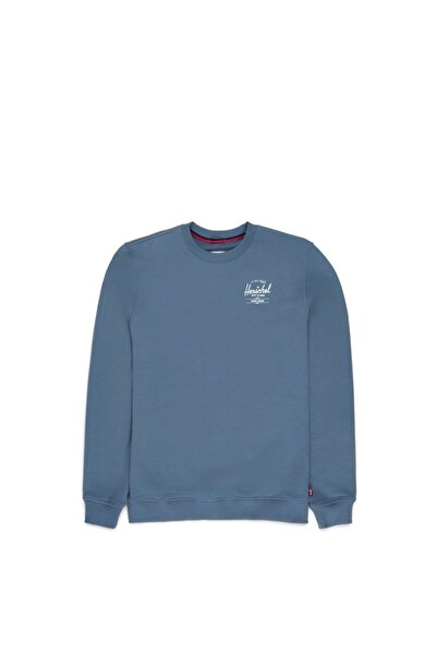 Herschel Supply Co. Herschel Sweatshirt Crewneck Classic Logo Blue Mirage/white