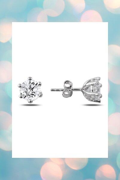 Crystal Diamond Zirconia 0.30 Carat Tektaş Küpe