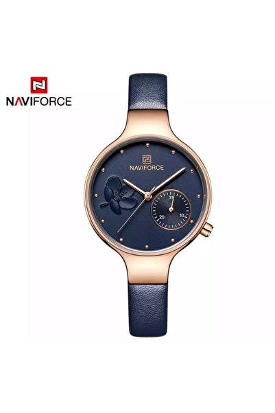 Naviforce Nf5001 Analog Deri Kordon Kadın Kol Saati