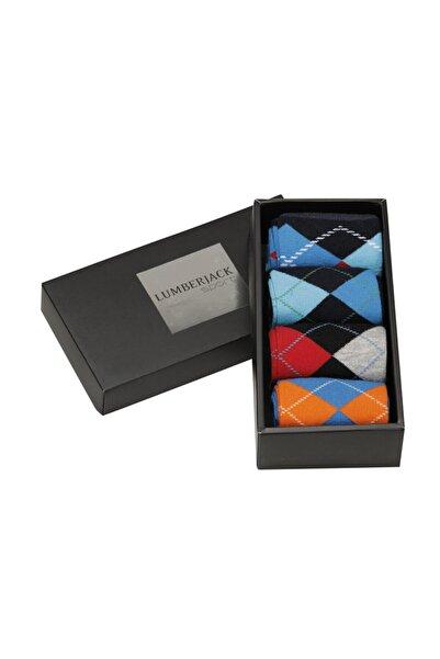 lumberjack Unisex Baklava Desen Çorap Box2