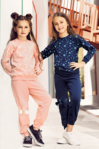 Lohusa Sepeti Kız Çocuk Gökyüzü Pijama Takımı  3 9 Yaş - 0017
