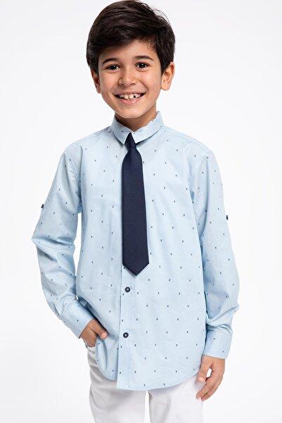 DeFacto Erkek Çocuk Regular Fit Desenli Uzun Kollu Gömlek