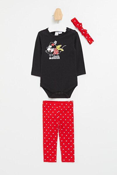 DeFacto Kız Bebek Minnie Mouse Lisanslı Alt Üst Set