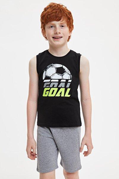 DeFacto Goal Atlet ve Şort Regular Fit Pijama Takım