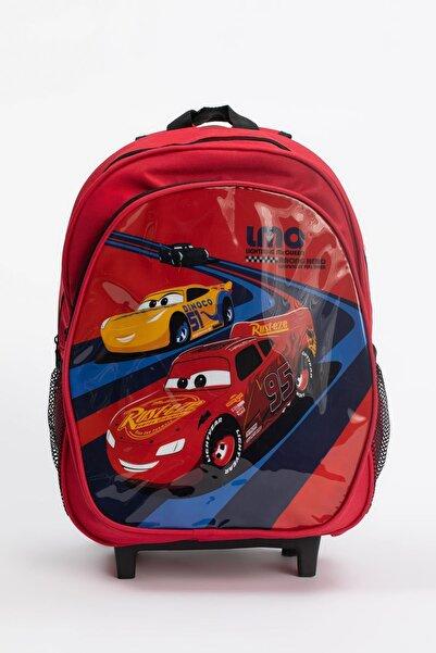 DeFacto Erkek Çocuk Arabalar Lisanslı Çekçekli Okul Çantası