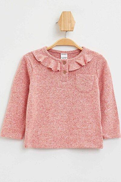 DeFacto Kız Bebek Yakası Fırfır Detaylı Uzun Kollu T-shirt