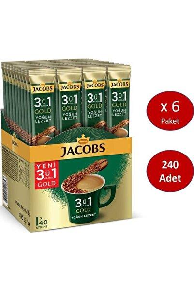 Jacobs 3ü1 Arada Gold Kahve Karışımı Yoğun Lezzet 240 Adet (40 X 6 Paket)