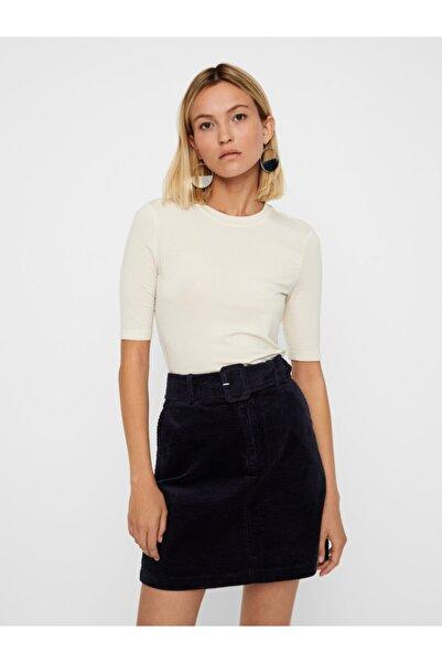 Vero Moda Kadın Ekru Yarım Kollu Liyosel Bluz 10219298 VMINZYNC