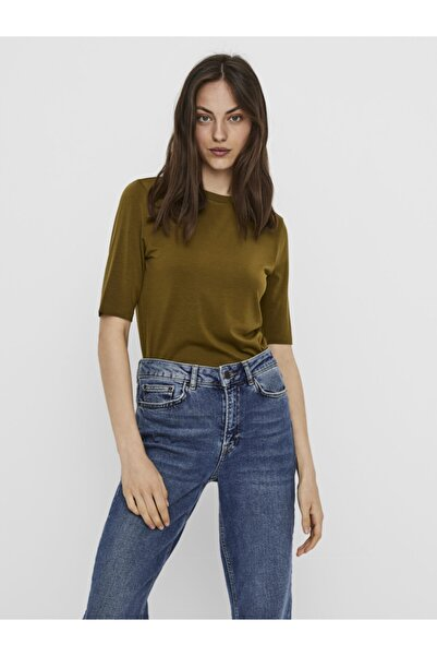 Vero Moda Kadın Yeşil Yarım Kollu Liyosel Bluz 10219298 VMINZYNC