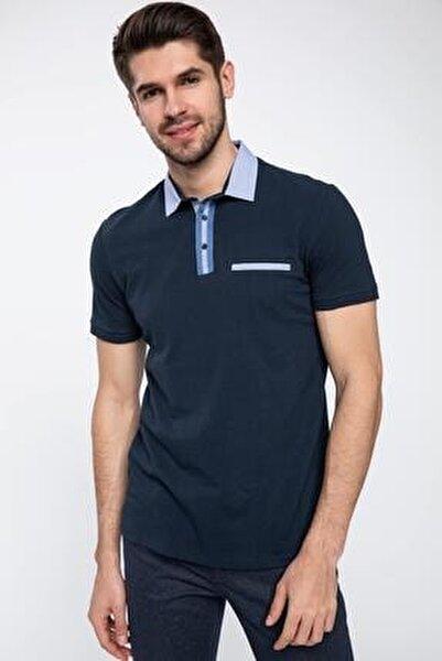 Erkek Tek Cepli Slim Fit Polo Yaka T-shirt K1274AZ.19SP.NV64